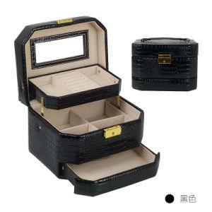 أسود [هيغقوليتي] [بورتبل] مستحضر تجميل تخزين [بو] [بتنت لثر] صندوق جميل حالة