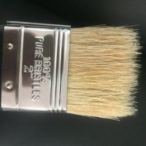 金プラスチックハンドルが付いている経済的な白い剛毛のハイチの絵筆