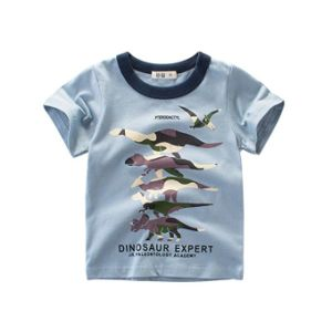308da875d Los niños bebés bebé Cotton T-corto 3-Pack Camiseta de manga corta  dinosaurio Imprimir Arriba Ropa de verano