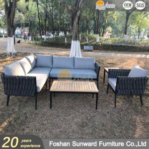 Luxury chinês de alumínio moderno Hotel Resort Villa Customized Jardim Mobiliário de exterior sofás