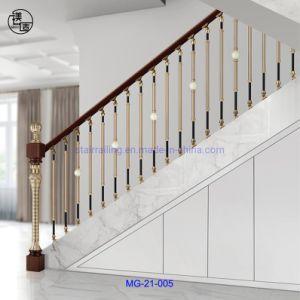 El alto grado de tipo moderno de estilo simple escalera de aluminio de husillo de la Villas y Hoteles