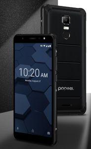 Poptel 4G Smartphone 4GB+ 64GB, IP68 imprägniern Handy 5.5inch Mt6763, 13MP globales Band-Mobiltelefon des Fingerabdruck-OTG NFC