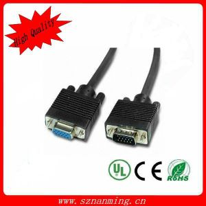 15pin Mann-zu-Female VGA Cable, mit Nickel-Plated Connector (NM-VGA-1306)
