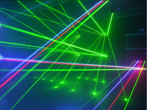 高い発電のアニメーションのビームRGBレーザー10Wライト