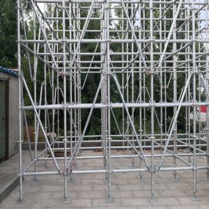 Banheira de galvanização a haste horizontal Ringlock andaime para parede externa