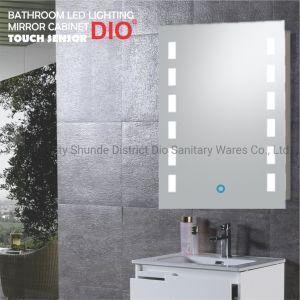 Espejo del baño de estilo europeo, armario con iluminación LED y bricolaje de la función Smart