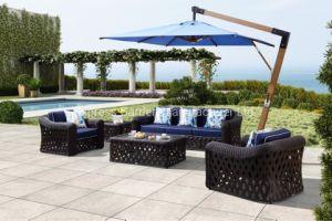 Hôtel haut de gamme de projets & Classic mobilier extérieur Salon fixé à un patio et piscine