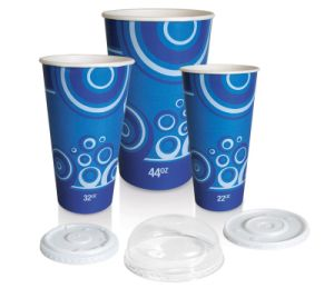 さまざまな印刷を用いる冷たい紙コップ