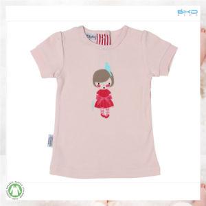 유기 면 아기는 아기 t-셔츠를 위한 아이들 의복을 인쇄하는 물을 입는다