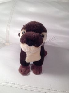 Giocattolo della peluche della lontra dell'animale di mare