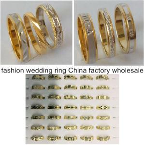 La moda de alta calidad de la banda de anillo de boda al por mayor de la fábrica