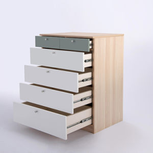 Las modernas precio más bajo de pecho cajón de madera MDF muebles armario