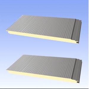 Изолированный настенной панели кнопки Двусторонняя стальной лист огнеупорные полиуретановые панели крыши