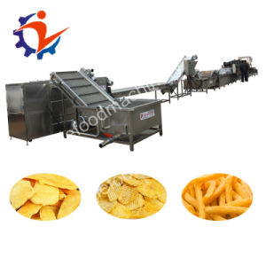 Lijie frire électrique à haute efficacité Les croustilles de ligne de production