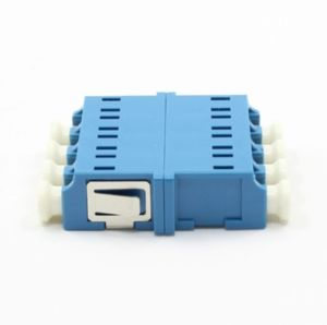Quad de fibra óptica LC monomodo adaptador sin brida
