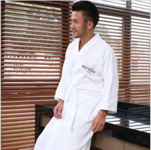 De bonne qualité de sous-vêtements Terry Hôtel peignoir en velours pyjama avec logo brodé