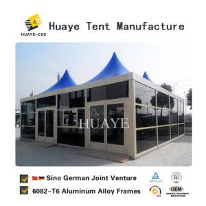 8X8 da Estrutura de alumínio na parede de vidro Pagoda tenda com Flooring