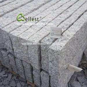 美化のための荒い分割G603薄い灰色の縁石の石
