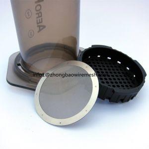 Filtros de Metal Premium reutilizáveis para uso na Aeropress Cafeteira