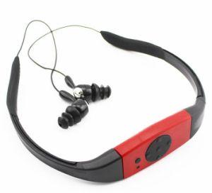 Imperméable piscine casque radio FM de lecteur MP3 sous-marin