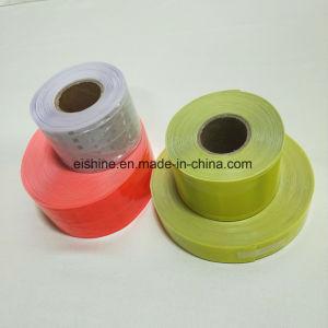 Es8500 0.38mm de ancho 5cm de espesor de diferente color Cinta de PVC reflectante costuras en el chaleco de seguridad