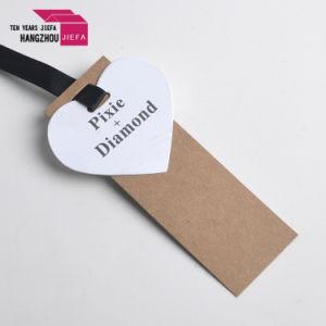 디자인을 인쇄하는 주문 상표 로고 모양 종이 꼬리표