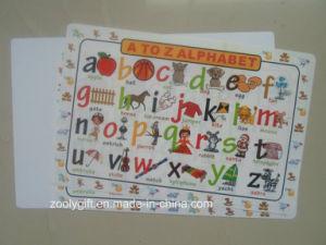 A a Z Alfabeto Placemat de plástico PP de aprendizagem para crianças