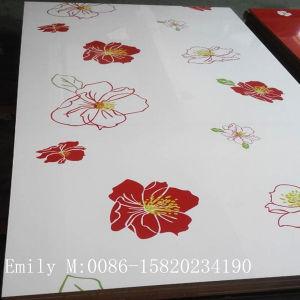 Moderner Design Flower UVMDF für Kitchen Cabinet Door