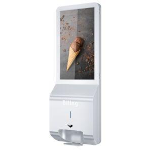 Desinfección de la mano dispensador de carteles de señalización digital de desinfección de visualización de pantalla de publicidad