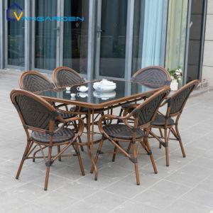 6 places d'osier Patio Table et chaise de Peacock mobilier extérieur