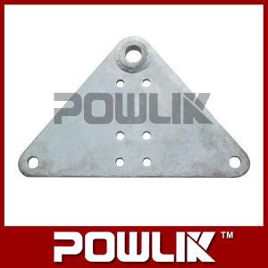 Placa de madeira tipo L, montagem de metal