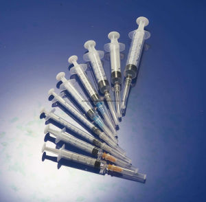 5ml Diposable suprimentos médicos com agulha da seringa