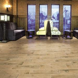 Heet verkoop de Verglaasde Rustieke Ceramische Houten Tegels van de Vloer in Foshan