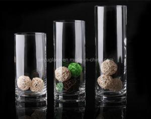 Цветные стекла формы цилиндра ваза цветов для украшения дома