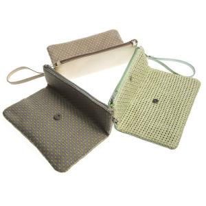 Pochette à fermeture à glissière d'alimentation de l'usine femelle Zipered élégant sac de rangement cosmétique de l'organiseur