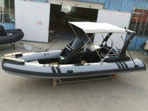 19pieds nervure 5.8m Bateau Bateau de travail en bateau de pêche bateau militaire rigide bateau gonflable