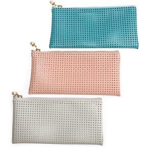 Sac d'emballage cosmétique de luxe de vente chaud de sac de sac cosmétique d'unité centrale avec la tirette en métal
