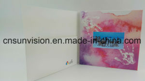 4.3  IPS 스크린 LCD 브로셔 영상 우송자 폴더 카드