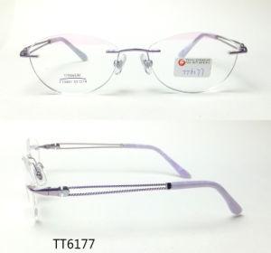 2018 het Nieuwe Optische Frame van het Titanium van de Goede Kwaliteit (TT 6177)