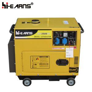 Luftgekühlter leiser Typ Dieselgenerator-Set (DG3500SE+ATS)