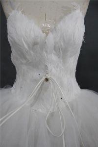 Kleding van Prom van de Tutu van het Ballet van de Kleding van de Veer van de manier de Mini Korte