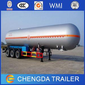 3 Eixo 56-60cbm Trailer de GNL de Gás Liquefeito de Petróleo