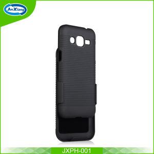 Samsung J2表面のとのおよび表面のためのベルトフリップコンボのホルスターの堅いプラスチックケースデザイン