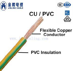 Condutor de cobre flexível H05V-R H05V-K H07V-K H07V-R H03VV-F fio de construção