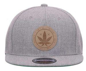 Acrylique solide rebord plat Hip Hop Cap Snapback de cuir Chapitre Outdoor Casquettes de baseball et de chapeaux