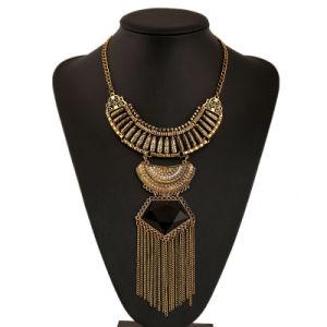 Collana di istruzione, collana Boho tribale etnico della Boemia di istruzione della frangia della moneta dei branelli