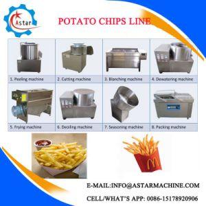 Olio fresco che frigge i chip della patata dolce che fanno macchina da vendere