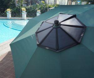 160W USB WiFi AC DC función solar plegable paraguas para Garden Hotel y de la playa