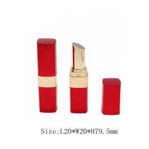 Alta qualidade de plástico vermelho Recipiente Cosméticos Batom Tubo/Caso