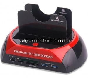USB3.0 두 배 SATA 다기능 HDD 도킹 스테이션